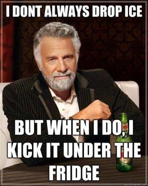 kicking_ice_under_Fridge
